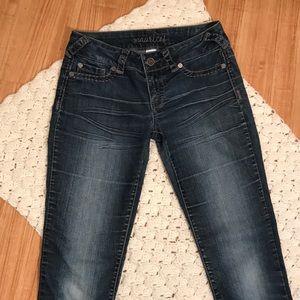 Maurice's dark blue stretch skinny jeans size M-R
